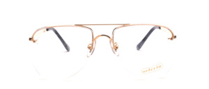 Vintage 70s half rim aviator glasses in gold with double bridge