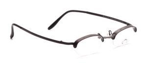 Aparte Halbrandbrille für Damen, in Schwarz, aus der französischen Designerschmiede